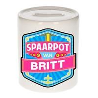 Kinder spaarpot voor Britt - keramiek - naam spaarpotten