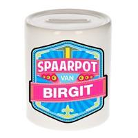 Kinder spaarpot voor Birgit - keramiek - naam spaarpotten