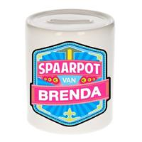 Kinder spaarpot voor Brenda - keramiek - naam spaarpotten