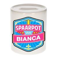 Kinder spaarpot voor Bianca - keramiek - naam spaarpotten
