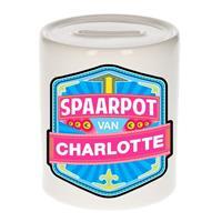 Kinder spaarpot voor Charlotte - keramiek - naam spaarpotten