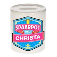 Kinder spaarpot voor Christa - keramiek - naam spaarpotten