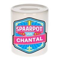 Kinder spaarpot voor Chantal - keramiek - naam spaarpotten