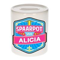Kinder spaarpot voor Alicia - keramiek - naam spaarpotten