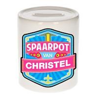 Kinder spaarpot voor Christel - keramiek - naam spaarpotten
