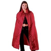 Voordelige rode satijnen cape voor volwassenen