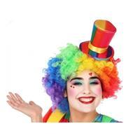 Fiesta carnavales Mini hoge clownshoed verkleed accessoire voor volwassenen