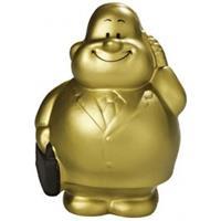 Anti stressbal goud zakenman in pak Multi