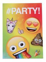 Haza Original uitnodiging regenboog Emoji 8 stuks