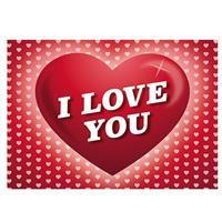 Shoppartners 5x Romantische Valentijnskaart I Love You ansichtkaart Roze