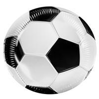 Boland feestborden voetbal 6 stuks 23 cm