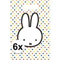6x Nijntje themafeest uitdeelzakjes/snoepzakjes 30 x 21 cm Wit