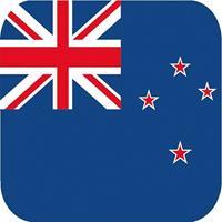 Shoppartners 15x Bierviltjes Nieuw Zeelandse vlag vierkant Multi
