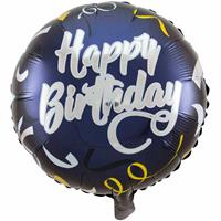 Happy Birthday Stijlvol Feest Folieballon - 45cm