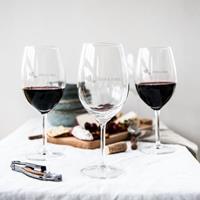 YourSurprise Rood wijnglas - set van 4