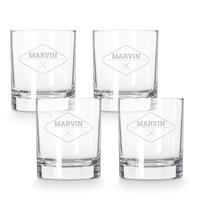 YourSurprise Whiskey glas graveren - 4 stuks
