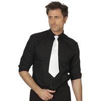 Witte stropdas cm verkleedaccessoire voor dames