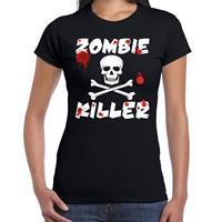 Shoppartners Zombie killer Halloween t-shirt zwart dames Zwart