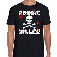 Shoppartners Zombie killer Halloween t-shirt zwart heren Zwart