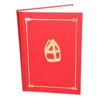 Rood Sinterklaasboek met mijter 350 paginas Rood