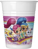 Nickelodeon 8 plastic Shimmer & Shine bekers