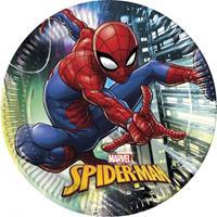 Marvel 8 kartonnen Spiderman bordjes