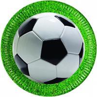 Procos feestborden voetbal 23 cm 8 stuks groen