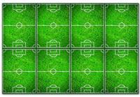 Procos tafelkleed voetbal 120 x 180 cm groen