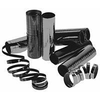 10x Serpentine rollen metallic zwart 4 meter Zwart