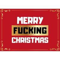 Shoppartners Grappige kerst wenskaart Merry Fucking Christmas Multi