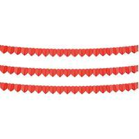 3x Rode hartjes slinger 4 meter Rood