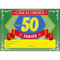 Verjaardag cadeau cheque Sarah 50 jaar A4 formaat Multi