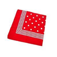 Rode boeren zakdoek met stippen Rood