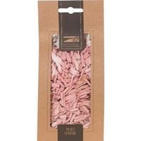 1x Zakje lichtroze houtsnippers 150 gram geboorte decoratie Roze