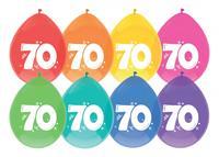 Haza Original Ballon leeftijd 6 stuks 70 jaar