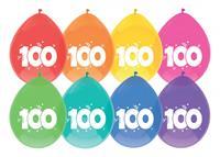 """Haza Original Ballon leeftijd 6 stuks """"100"""" jaar"""
