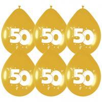 Haza Original Ballonnen metallic goud 50 jaar.