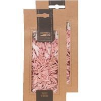 2x Zakje lichtroze houtsnippers 150 gram geboorte decoratie Roze