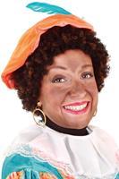 Coppens Pruik Piet kroes zwart bruin