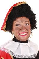 Coppens Pruik Piet krul met verstelbare kap zwart