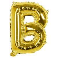 Boland folieballon letter B 36 cm goud