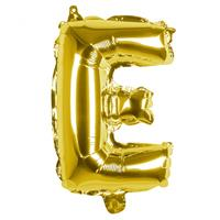 Boland folieballon letter E 36 cm goud