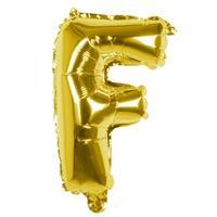 Boland folieballon letter F 36 cm goud