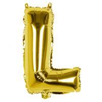 Boland folieballon letter 36 cm goud