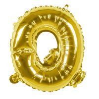 Boland folieballon letter Q 36 cm goud