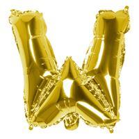 Boland folieballon letter W 36 cm goud