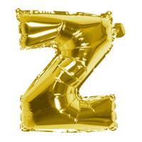Boland folieballon letter Z 36 cm goud