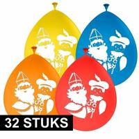 Folat 32x Sinterklaas en Piet ballonnen Multi