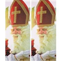 2x Sinterklaas banner/banier/vlag brandwerend 75 x 180 cm Multi