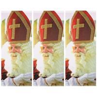 3x Sinterklaas banner/banier/vlag brandwerend 75 x 180 cm Multi